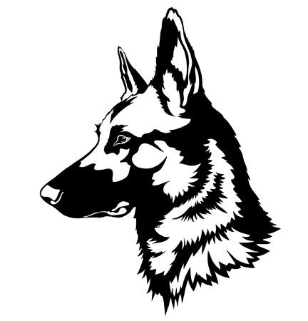 outlinear: Pastor de perros  Vectores