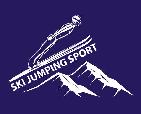 Ski Jumping Winter Sport vector illustration