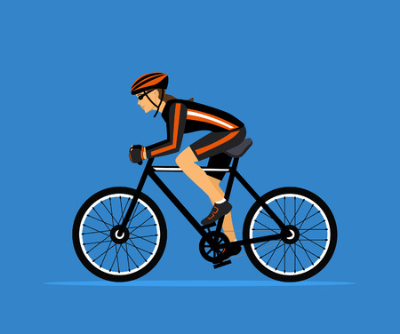 trail bike: Woman cycling. Sport Fitness Training. active people vector illustration Illustration