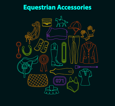 breech: Equestrian accessories set