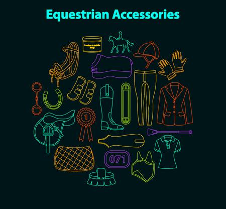 chap: Equestrian accessories set
