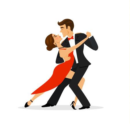タンゴを踊るカップル