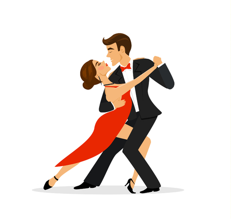 Coppia ballare il tango Archivio Fotografico - 71547203