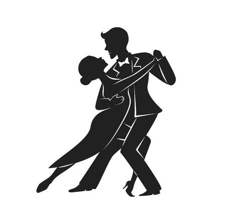 カップル ダンス タンゴ シルエット