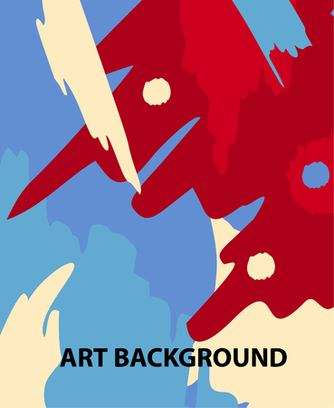 abstract art: Abstract art strokes background