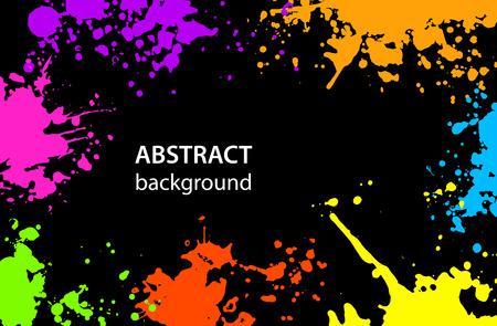 Grungy abstracto pintura Splatter Blots fondo colorido