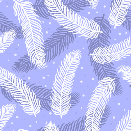 twigs: Winter seamless pattern with pine tree twigs