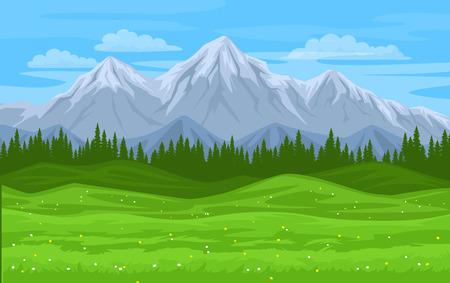 wilderness area: mountain forest meadow landsccape