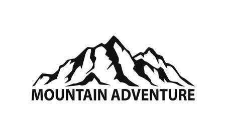 snowy hill: mountain range symbol silhouette