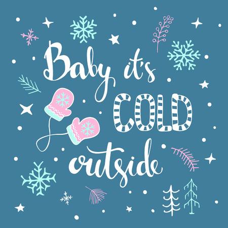 Christmas greeting card design concept. Illustration