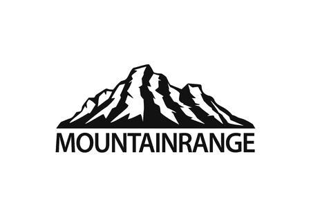 mountain range silhouette  logo isolated vector illustration graphic in black color Illustration