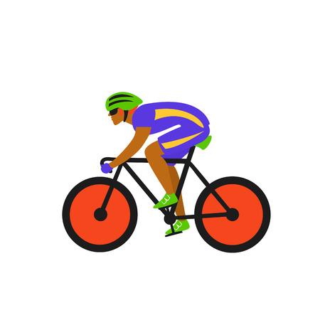 man race cyclist, riding bike vector illustration