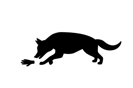 german shepherd mantrailing silhouette club logo isolated vector rh 123rf com German Shepherd Vector german shepherd logo designs