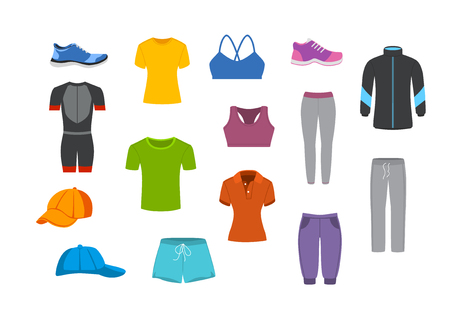 Sport Fitness Kleidung Grafikset