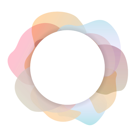 abstract soft pastel colored gradient shapes circle background
