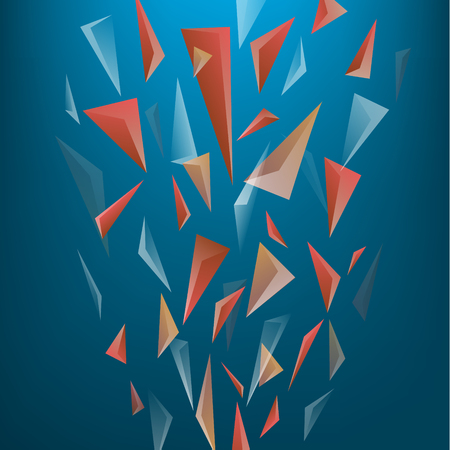abstract geometric dynamic falling triangle shapes banner