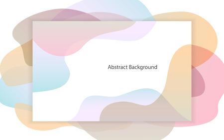 abstract fluid soft pastel gradient shapes frame background Illustration