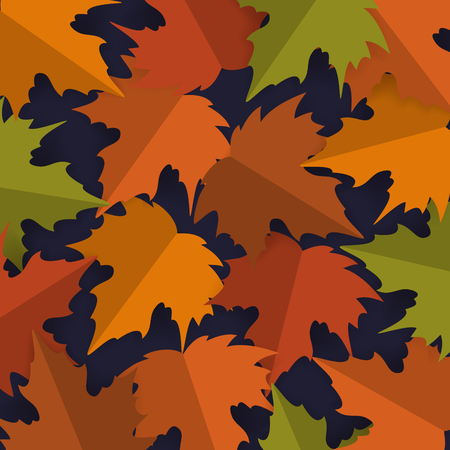 paper cut style maple leaves background,  autumn fall thanksgiving banner vector illustration Illustration