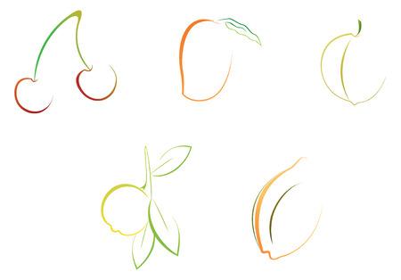 vector file, easy to edit fruits illustrations Illustration