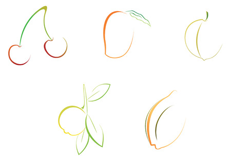 vector file, easy to edit fruits illustrations Illustration