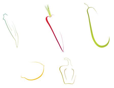 easy to edit transparent vegetables