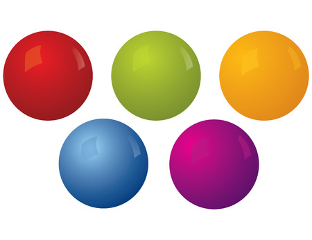 Vector Balls, easy to edit, You can change color and shadow for these balls Illustration