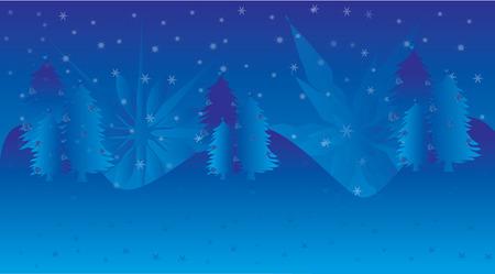 blue background christmas illustrations
