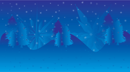 blue background christmas illustrations
