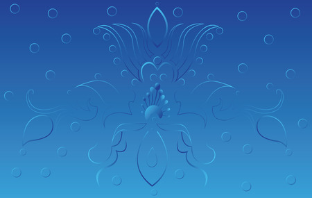 blue background with interesting motif