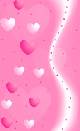 Valentine background with hearts Stock Vector - 3170292
