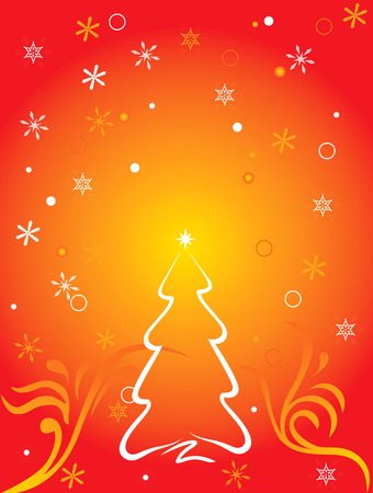 Vector cristmas with red vignette motif background
