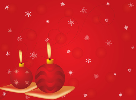 Vector cristmas candles with red motif background Vector