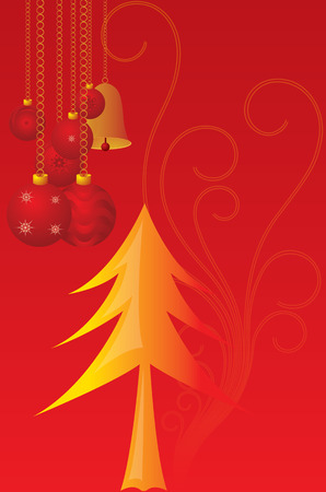 Vector cristmas candles with red motif background
