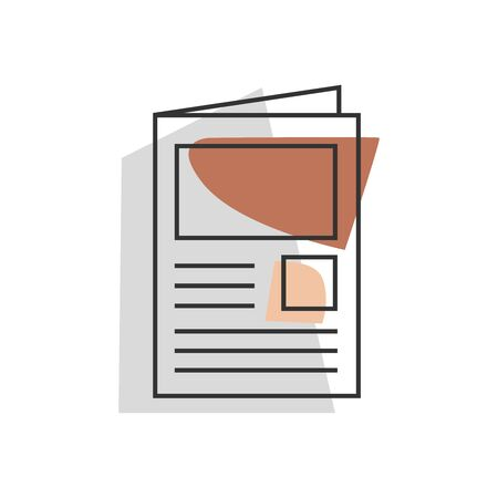 Unique style newspaper icon design