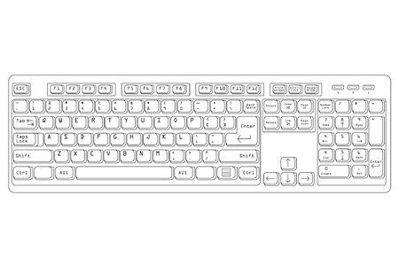 Minimalist keryboard design for PC