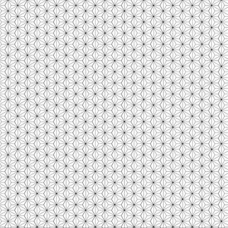 Asanoha Pattern.It's based on a hexagon and looks like a hemp leaf.Japanese seamless vector pattern Vettoriali