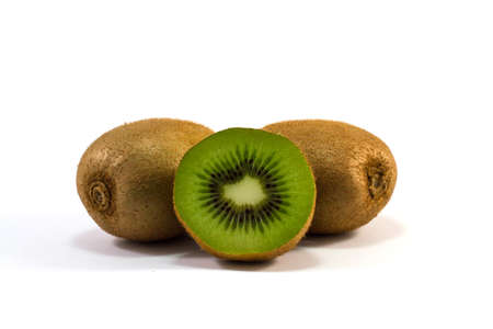 juicy: juicy kiwi isolated in white