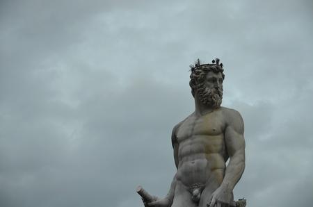 king neptune: Neptune statue in Piazza della Signoria, Florence, Italy