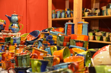 italian handicraft in Florence during christmas, Italy Stock Photo