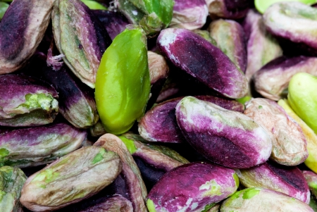 seeds of pistachio from Bronte, Sicily Banque d'images