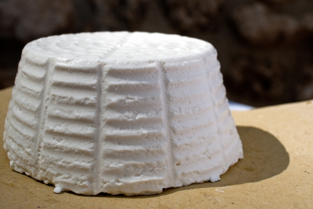 Ricotta cheese, traditional cheese from sheep