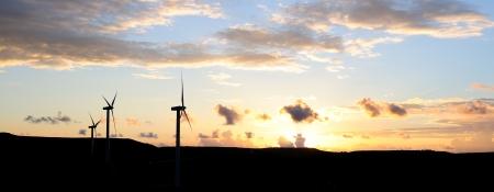 windturbine: Windturbine at sunset in Sicily countryside