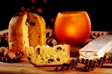Panettone is the traditional Italian dessert for Christmas photo