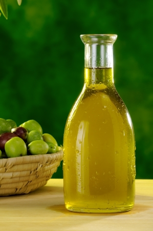 typical extra virgin olive oil of the Sicilian countryside