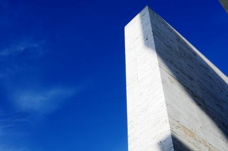 ini: detail of the architecture ini Gibellina, Sicily