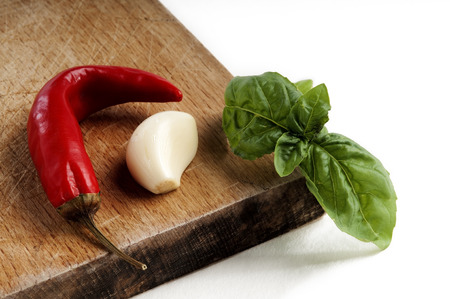widely: Spices widely used to flavor Mediterranean cuisine Stock Photo