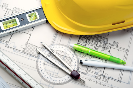 architect office: tools to design new homes