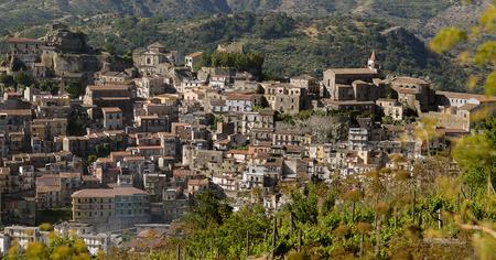 Castiglione di Sicilia a small village in the territory of wine of Etna