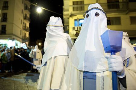 Enna, Sicily, Italy March 25, 2016 – religious Parade, in town of Enna, Sicily for the Holy Easter which lasts through the afternoon and night. – religious Parade, in town of Enna, Sicily for the Holy Easter which lasts through the afternoon and night.