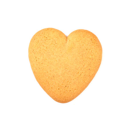 gingerbread heart isolated on a white background. festive treats for Valentine's day and Christmas